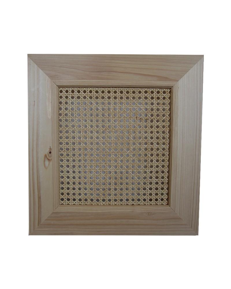 Porte en pin et cannage fabriquée en France compatible modele IVAR IKEA