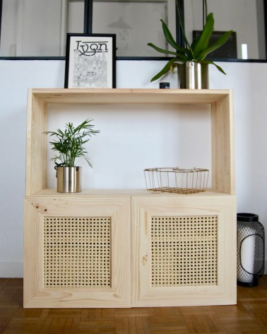 Ivar IKEA avec les belles portes en cannage made In France Boost My Design