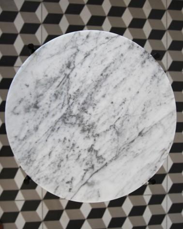 Plateau en marbre de Carrare d'exception fabriqué en France pour tables basses IKEA Gladom et Ypperlig