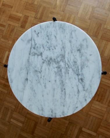 Plateau en marbre de Carrare fabriqué en France pour tables basses IKEA Gladom et Ypperlig