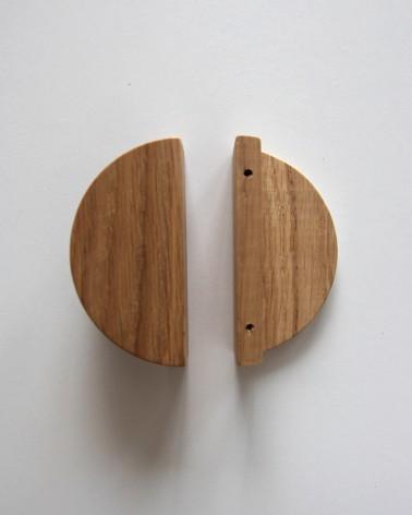 Poignée en chene Boost My Design, détail pour la fixation, fabriquée en France par un artisan