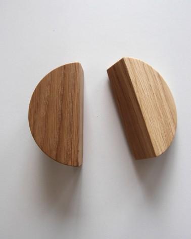 2 poignées chêne Boost My Design formant un cercle fabriquées en France par un artisan
