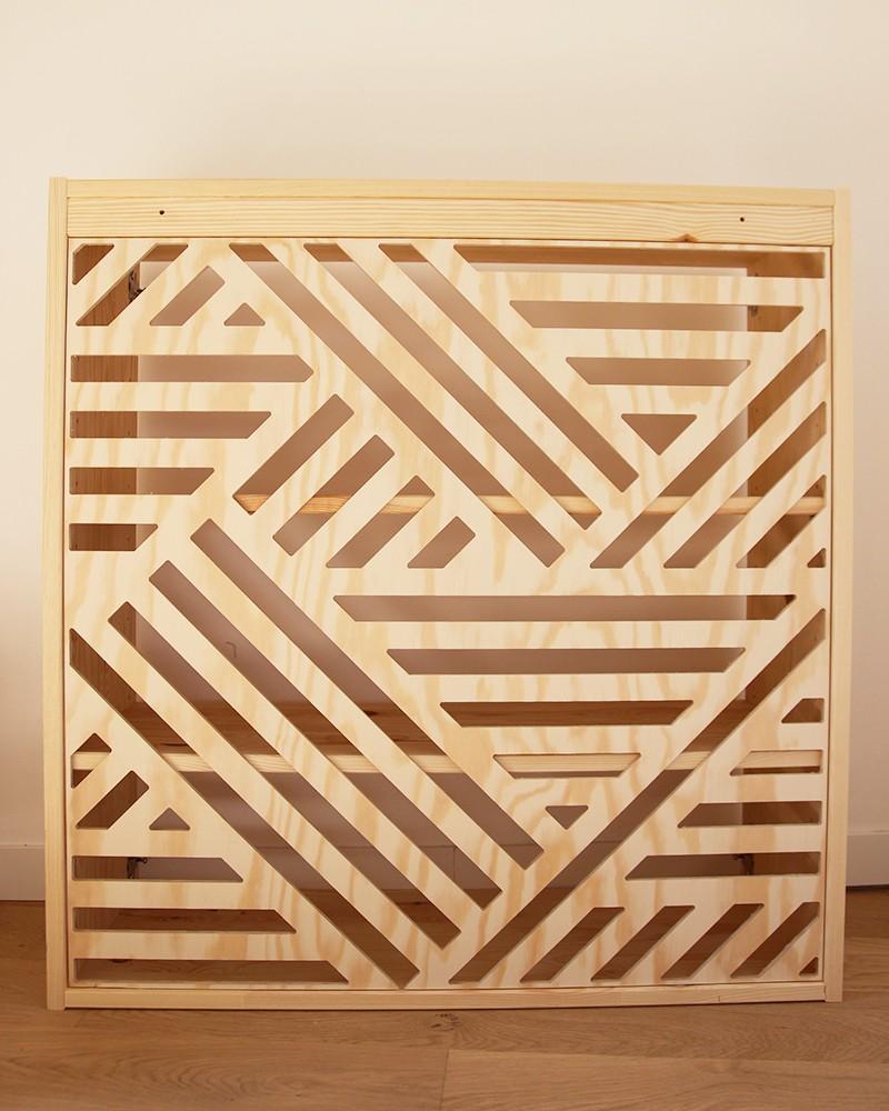 Fond graphique en pin fabriqué en France designed by Boost My Design
